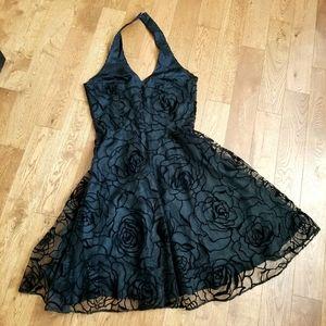 👗BLACK CHIFFON SEMI DRESS